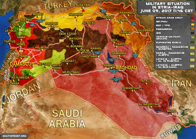 Syrien Irak Karte.Syrien Niederlage Für Die Verdeckten Krieger