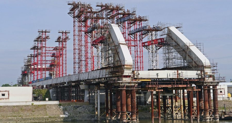Brücke Baustelle